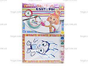 Набор для творчества «Цветные контуры. Фиксики», VT4402-25, toys.com.ua