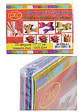 """Набор для творчества """"Фоамиран"""" блестящий на клейкой основе А5 10 листов, 10 цветов, 2 мм, 15*20 см , 0266-A5, toys"""