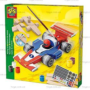 Деревянный конструктор «Гоночный автомобиль», 14582S