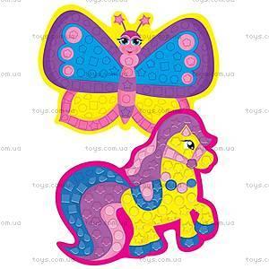 Фигурная мозаика «Паровоз», VT2301-02, toys.com.ua