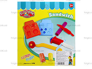 Набор пластилина для лепки «Сендвич», 9167, отзывы