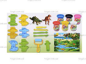 Набор пластилина для творчества Dinosaur Park, 1314A, фото