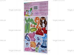 Набор с мягкими наклейками «Блондинка», VT4206-09, Украина