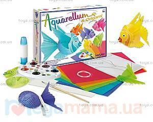 Набор для творчества с раскраской «Рыбки», 6400