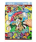"""Набор для творчества """"Sandart. Енот"""" , SA-01-01,02,0, магазин игрушек"""
