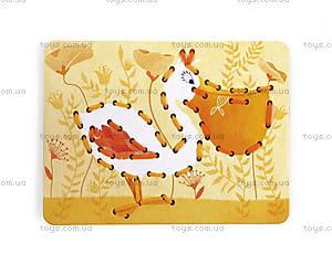 Набор для творчества «Забавные зверюшки», шнуровка, J02806, toys.com.ua