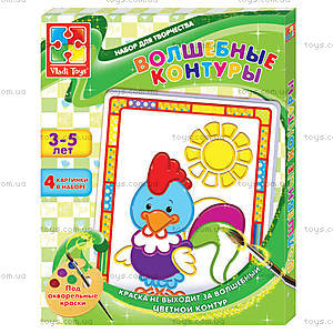 Набор для творчества «Волшебные контуры», VT4402-17..20, toys.com.ua