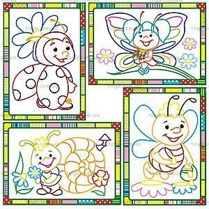 Набор для творчества «Волшебные контуры» с красками, VT2601-05, магазин игрушек