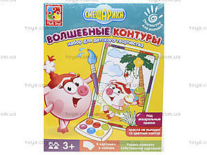 Набор для творчества «Волшебные контуры. Смешарики», VT4402-2324, детские игрушки