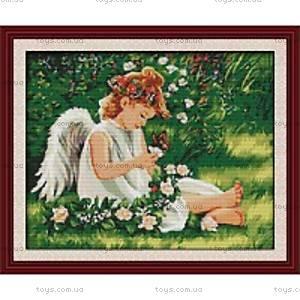 Набор для вышивания «Ангелочек в цветах», R215