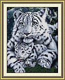 Набор для вышивания «Белые тигры», D171, фото