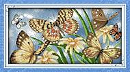 Набор для вышивания «Цветы и бабочки», D202, фото