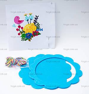 Набор для вышивания «Цветы и птицы», голубая рамка, 57898, купить