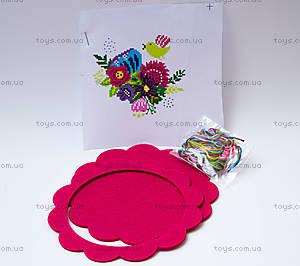 Набор для вышивания «Цветы и птицы», розовая рамка, 57899, купить