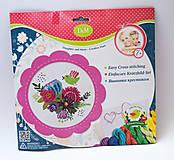 Набор для вышивания «Цветы и птицы», розовая рамка, 57899, фото