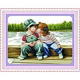 Набор для вышивания «Детский поцелуй», R290, отзывы