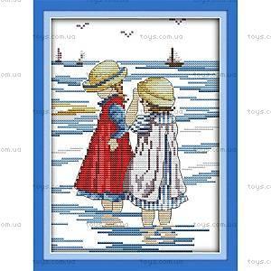 Набор для вышивания «Дети на море», K210