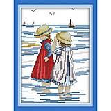 Набор для вышивания «Дети на море», K210, отзывы