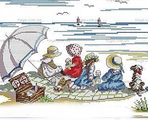 Набор для вышивания «Дети на пляже», K439