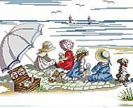 Набор для вышивания «Дети на пляже», K439, фото