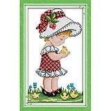 Набор для вышивания «Девочка в шапочке», R369, фото