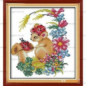 Набор для вышивания «Мышка в цветах», D116