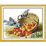 Набор для вышивания «Птицы и фрукты», D148, отзывы
