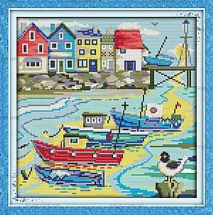 Набор для вышивания «Рыбацкая деревня», F019 (2)