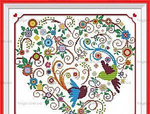 Набор для вышивания «Яркое сердце», K607
