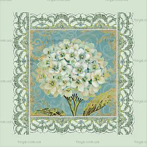 Набор для вышивки бисером «Белая герань», ВБ 1017