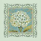 Набор для вышивки бисером «Белая герань», ВБ 1017, фото