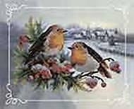Набор для вышивки бисером «Снегири», ВБ 2001, купить