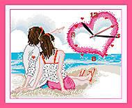 Набор для вышивки «Часы. Любовь у моря», G099, отзывы