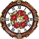 Набор для вышивки «Часы. Яркие цветы», G030, купить