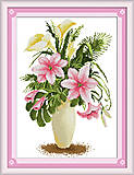 Набор для вышивки картины «Лилии», H093, фото