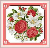 Набор для вышивки картины «Розы и лилии», H095, фото