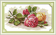 Набор для вышивки крестиком «Цветные розы», H091