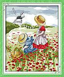 Набор для вышивки крестиком «Дети в поле», F196, отзывы