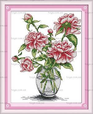 Набор для вышивки «Пионы в вазе», H026