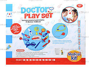 Набор для игры «Доктор» с куклой, 851-4, купить