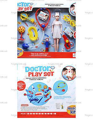 Набор для игры «Доктор» с куклой, 851-4