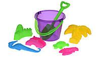 Набор для игры с песком Same Toy 8 элементов фиолетовый, HY-1204WUt-2, оптом