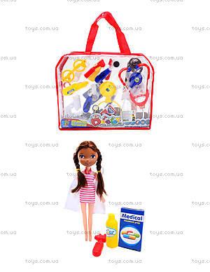 Набор доктора с куклой в сумочке, 116-48