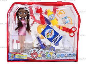 Набор доктора с куклой в сумочке, 116-48, игрушки