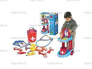 Набор доктора - тележка, сумка, инструменты,