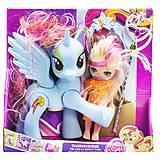 """Набор """"Dream Horse: лошадка и кукла-пони"""" (голубой), LJF850, доставка"""
