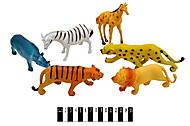 Набор диких животных 6 фигурок, A585, фото