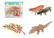 Набор диких животных с декорацией, B18-1(951585), фото