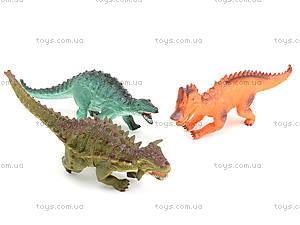 Игровой набор динозавров, 3 штуки, 3418, магазин игрушек