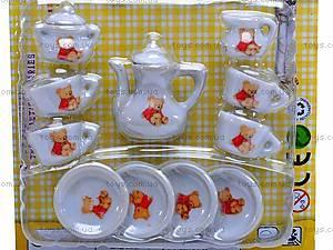 Набор фарфоровой посуды с чайником, 005B, фото